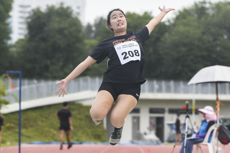Euodias Loh of NP finished eighth in the Women's Long Jump event with a final distance of 3.98m. (Photo 1 © Stefanus Ian/Red Sports)