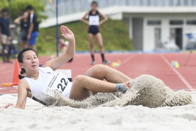 Keifa Teo of SMU finished sixth in the Women's Long Jump event with a final distance of 4.33m. (Photo 1 © Stefanus Ian/Red Sports)