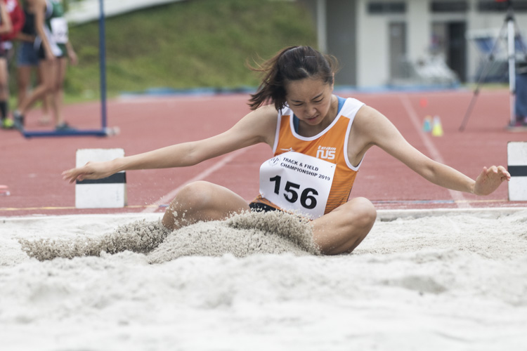 Zhuo Lin Lin of NUS finished fifth in the Women's Long Jump event with a final distance of 4.50m. (Photo 1 © Stefanus Ian/Red Sports)