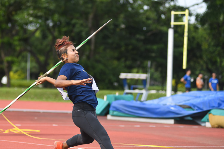 Maya Shanmugaratnam secured the silver medal in the Women's Javelin event with a final distance of 33.08m. (Photo 1 © Stefanus Ian/red Sports)