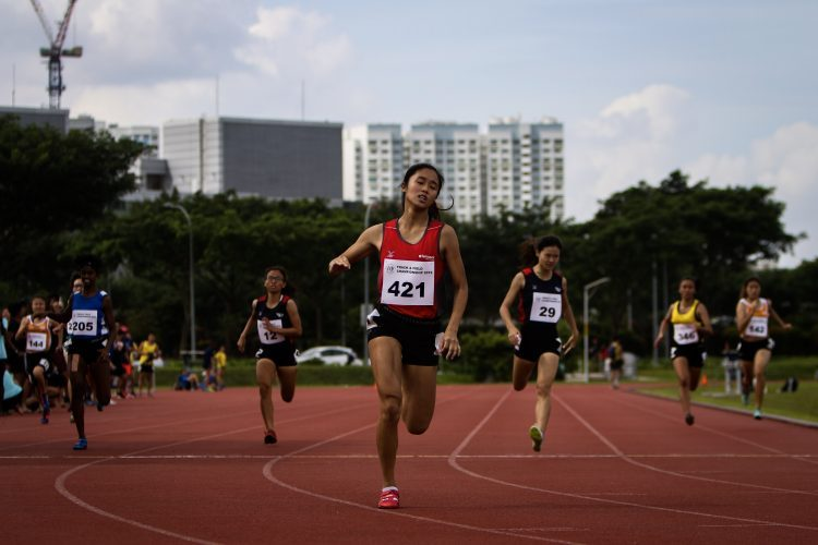Clara Goh of TP crossed the finish first, with a time of 26.09 (Photo 5 © REDintern Young Tan)