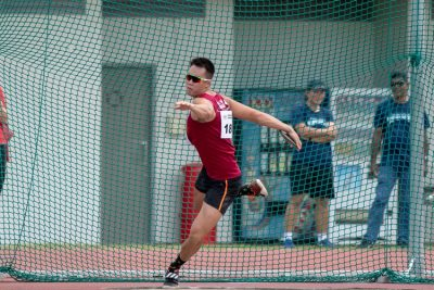 Brian See of NUS winds up to throw the discus. (Photo 9 © Jared Khoo/REDintern)