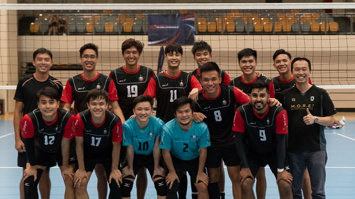 Team ORD poses for a photo on-court after winning 3-0 against Team Spaiko in the finals. (Photo 17 © REDintern Jared Khoo)