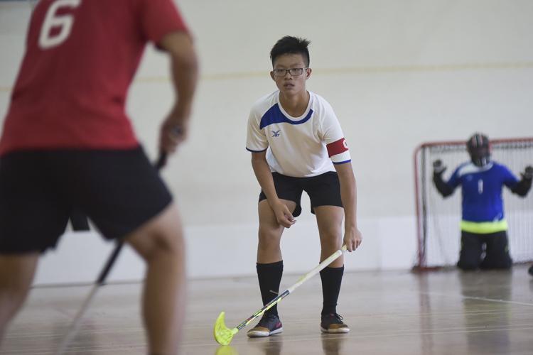 Yusof Ishak captain Nio Yin Hao (#14) on defense duty. (Photo 1 © Iman Hashim/Red Sports)