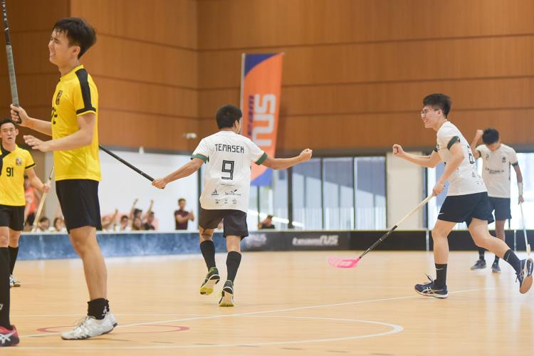 Tan Yuan Rong (TH #9) scores Temasek's third. (Photo 10 © Iman Hashim/Red Sports)