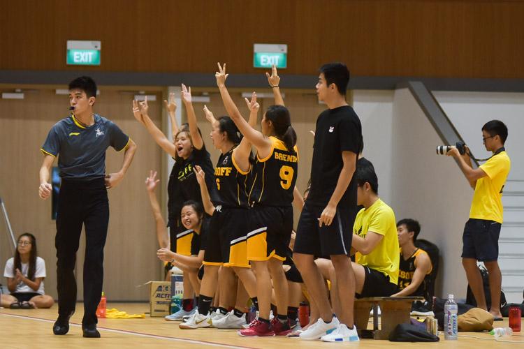The Eusoff bench celebrate a three. (Photo 19 © Iman Hashim/Red Sports)
