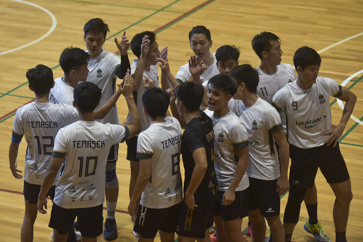 Eusoff Hall defeated Temasek Hall 3-1 (24-26, 25-21, 25-17, 25-18) to claim the IHG Volleyball title. (Photo 20 © Iman Hashim/Red Sports)