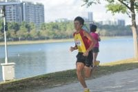 Ethan Yan of Hwa Chong Institution finished first in the Under-20 Men's category with a timing of 16:03.7 over 4.8 kilometres. (Photo 1 © Iman Hashim/Red Sports)