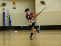 Alexander Lim Hui Yao (CHS #4) caught in action taking a shot against Yuhua Secondary.