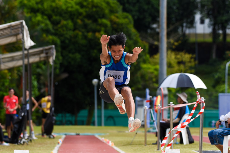Jorden Chong of Catholic Junior College placed seventh with 6.22m. (Photo 13 © Iman Hashim/Red Sports)