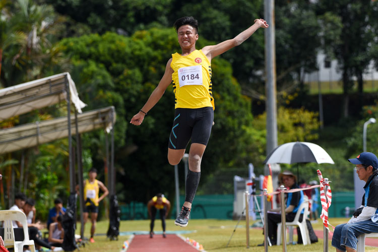 Daniel Christopher Lee of VJC placed sixth with 6.32m. (Photo 12 © Iman Hashim/Red Sports)