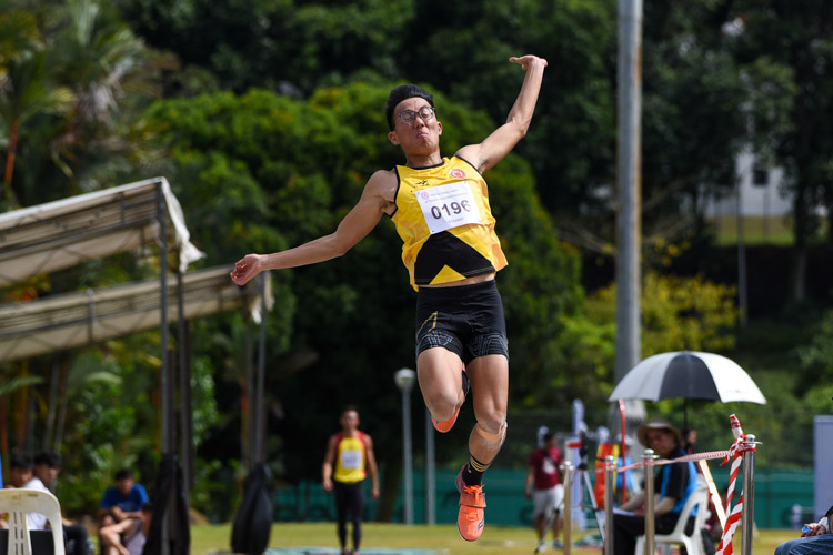 Rik Lim of VJC claimed the bronze with 6.66m. (Photo 9 © Iman Hashim/Red Sports)
