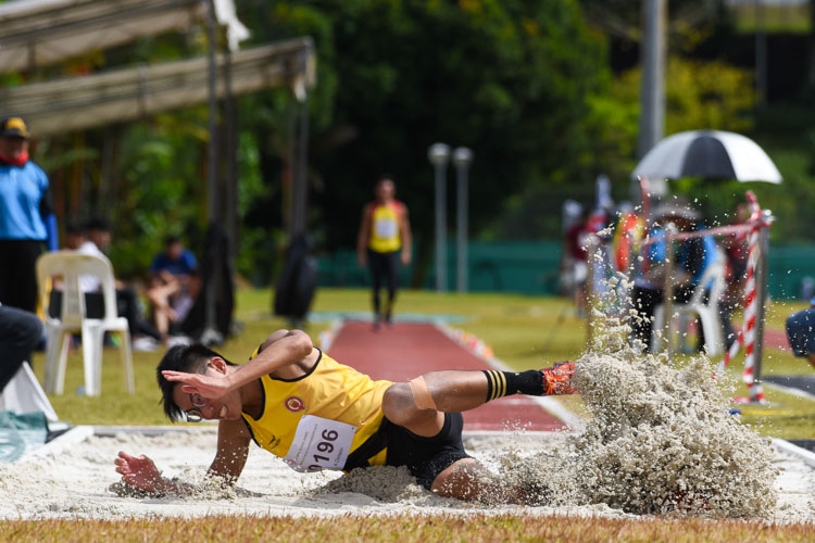Rik Lim of VJC claimed the bronze with 6.66m. (Photo 10 © Iman Hashim/Red Sports)