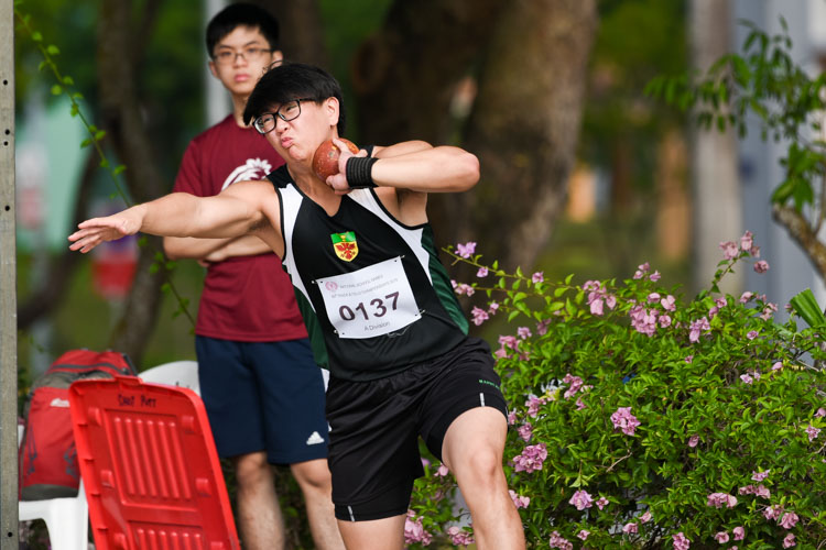 Tim Ong (#137) of RI came in fourth with 13.66m. (Photo 5 © Iman Hashim/Red Sports)