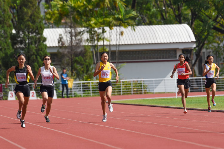 Runners on the final stretch of the one-lap sprint. (Photo 7 © Iman Hashim/Red Sports)