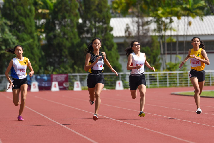 Tong Yan Yee (#804) of Crescent Girls' School claimed the silver medal with a timing of 1:02.09. (Photo 8 © Iman Hashim/Red Sports)