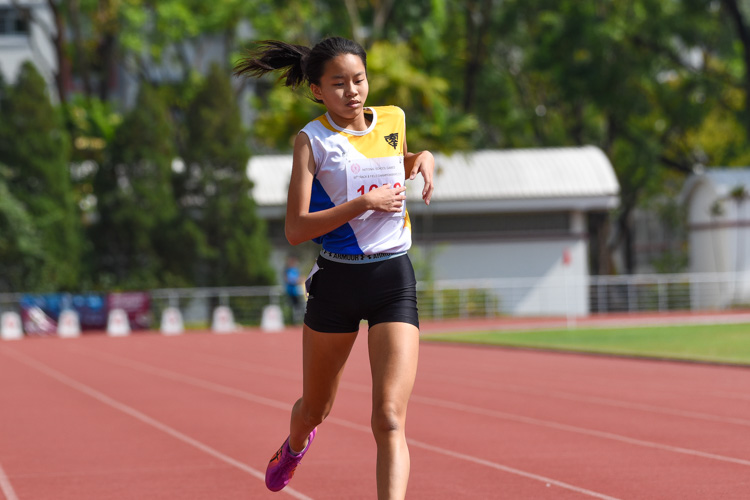 Elsie Woo of Nanyang Girls' High School finished in fifth place. (Photo 11 © Iman Hashim/Red Sports)