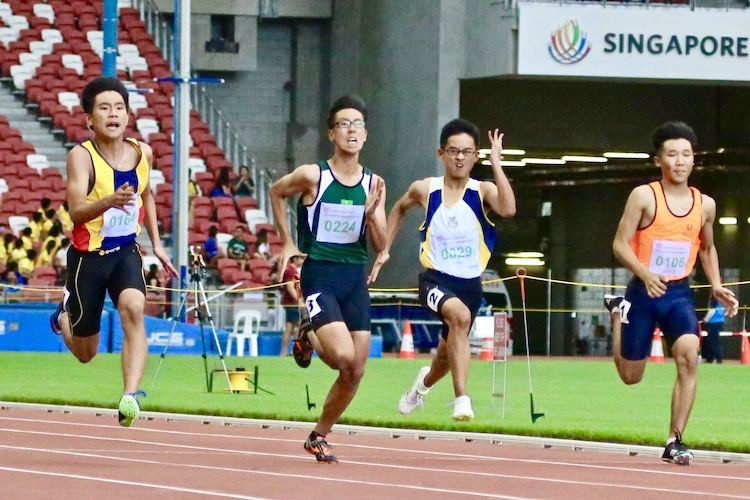 Xavier Tan Tze How of Anglo Chinese School (Independent) took home the gold with a timing of 11.71 seconds. Followed by Huang Weijin of Singapore Sports School clocking 11.79. Lastly Isaac Koh Wei Jie of Raffles Institution came in third with a timing of 11.92s. (
