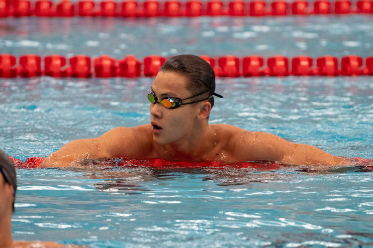 Nicholas Cheong of ACS(I) finished first in the boys' A Division 200m breaststroke final with a time of 2:24.79, almost five seconds ahead of the runner-up.