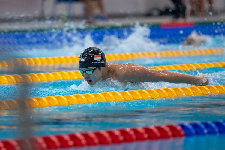 Ephraim Tan of ACS(I) won the B Division Boys' 200m butterfly final with a time of 2:06.83.