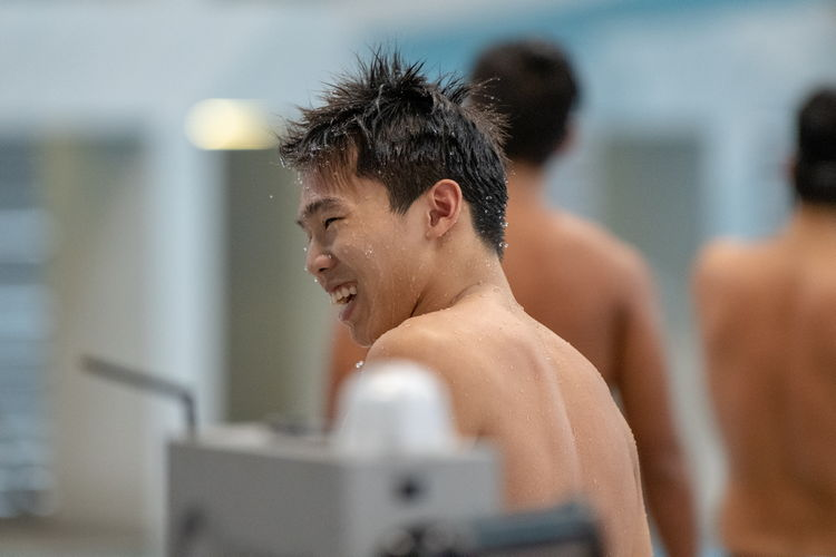 Jonathan Tan came first in the A Division boys' 100m freestyle final with a time of 50.64s, setting a new meet record.