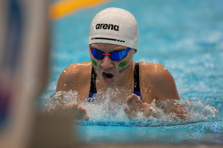 Sarah Bernard of RGS won the C Division Girls' 200m breaststroke final with a time of 2:41.76.