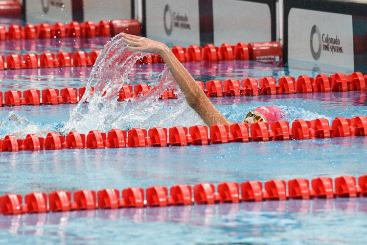 Ashley Ng of MGS won the C Division girls' 200m Backstroke gold with a time of 2:28.77. (Photo 1 © Iman Hashim/Red Sports)