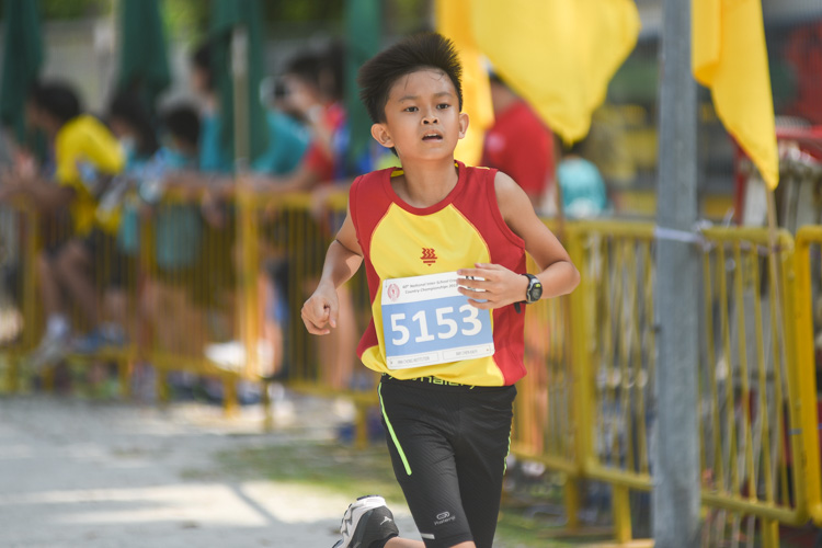 HCI's Ray Chen finished 21st in the Boys' C Division cross country race with a time of 15:05.3. (Photo 1 © Iman Hashim/Red Sports)