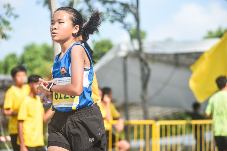Guangyang Secondary's Ashlyn Rae Cheong (#6126) finished 11th in the Girls' C Division cross country race with a time of 17:26.4. (Photo 1 © Iman Hashim/Red Sports)
