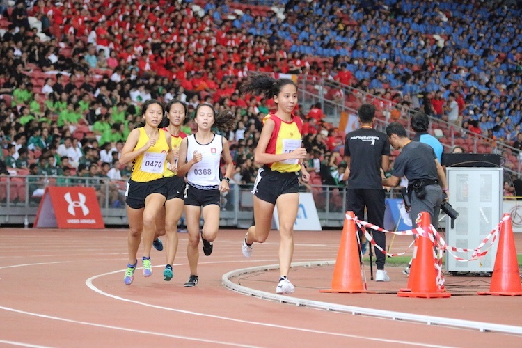 Toh Pei Xuan of Hwa Chong Institution comes in second place with a timing of 5:17.06.