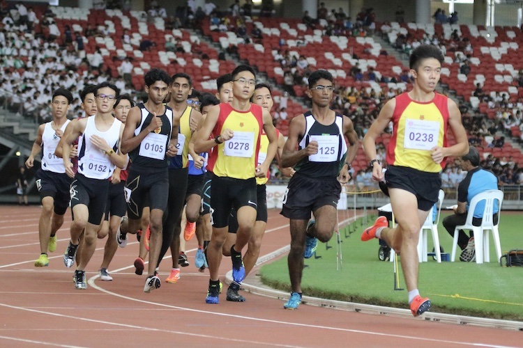 Ethan Yikai Yan of Hwa Chong Institution placed third with a timing of 4:10.45.