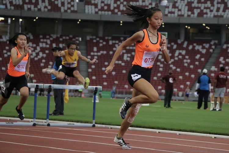 Tyeisha Khoo of Singapore Sports School came in second place with a timing of 15.80s.