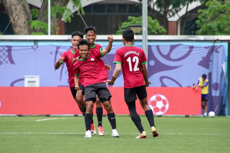 Mohd Arsyad (JVSS #16) celebrates after scoring the equaliser. (Photo 4 © Clara Lau/REDintern)