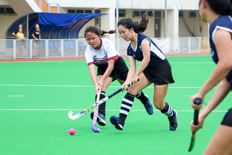 SAJC claim 5-0 victory over JPJC in their last National Schools A Division Girls' Hockey group stage fixture. (Photo 6 © Clara Lau/REDintern)