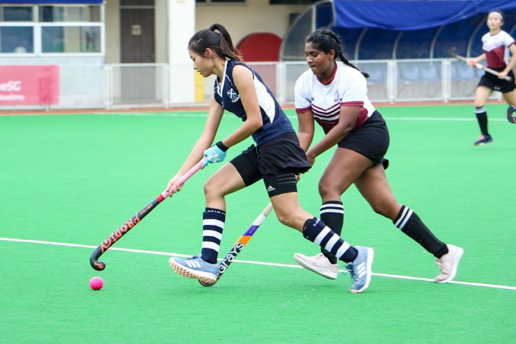 SAJC claim 5-0 victory over JPJC in their last National Schools A Division Girls' Hockey group stage fixture.  (Photo 7 © Clara Lau/REDintern)
