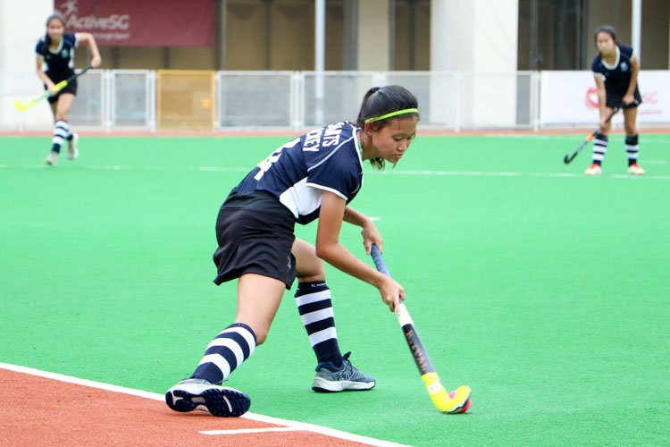 SAJC claim 5-0 victory over JPJC in their last National Schools A Division Girls' Hockey group stage fixture.  (Photo 8 © Clara Lau/REDintern)