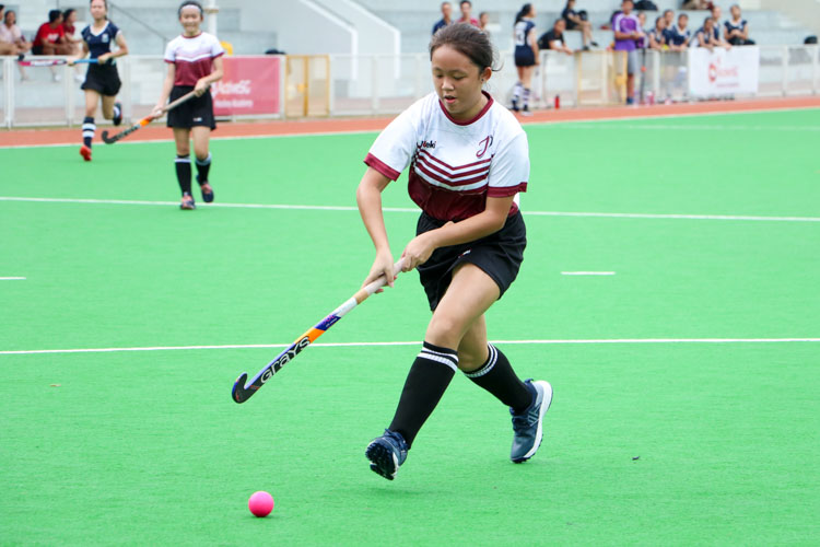SAJC claim 5-0 victory over JPJC in their last National Schools A Division Girls' Hockey group stage fixture.  (Photo 9 © Clara Lau/REDintern)