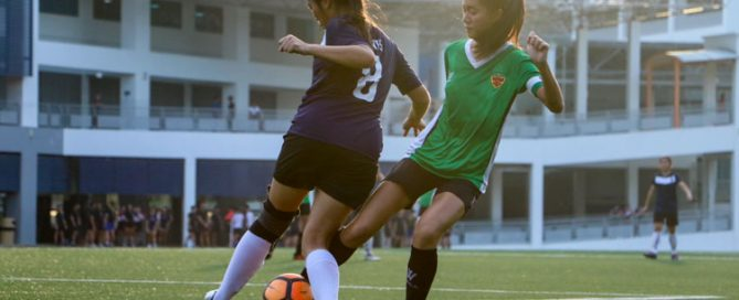 SAJC beat RI 2-1 to earn spot in National Schools A Division Girls' Football Championship final. (Photo 10 © Clara Lau/REDintern)