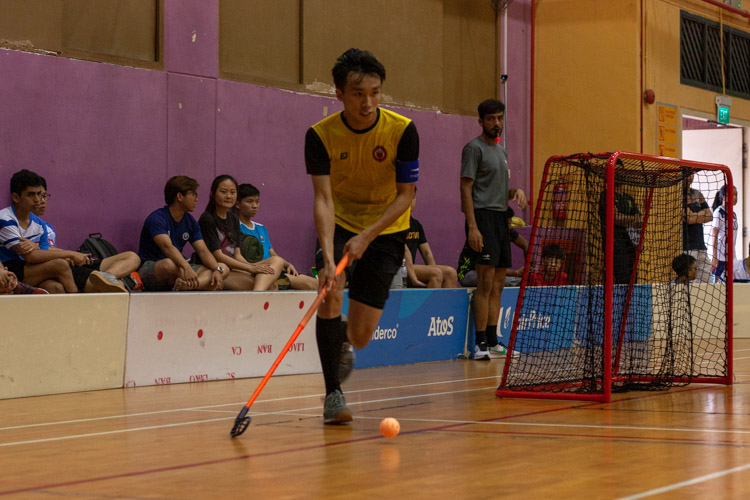 Darius Phua (VJC #67) running with the ball. He scored a vital goal to increase their lead by two goals with seven minutes to play. (Photo 12 © REDintern Jordan Lim)