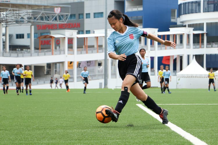 VJC head to National Schools A Division Girls' Football Championship final after penalty shoot-out against HCI. (Photo 10 © Clara Lau/REDintern)
