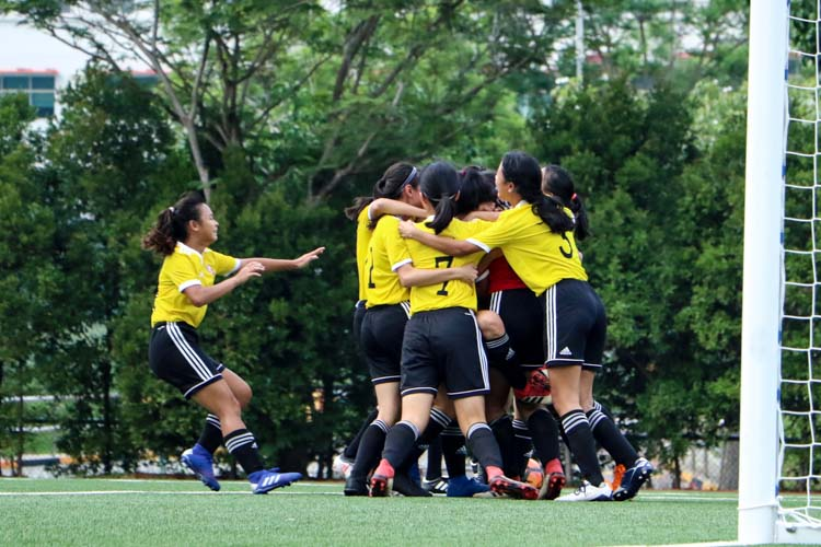 VJC head to National Schools A Division Girls' Football Championship final after penalty shoot-out against HCI. (Photo 18 © Clara Lau/REDintern)