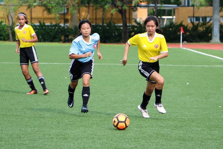VJC head to National Schools A Division Girls' Football Championship final after penalty shoot-out against HCI. (Photo 7 © Clara Lau/REDintern)