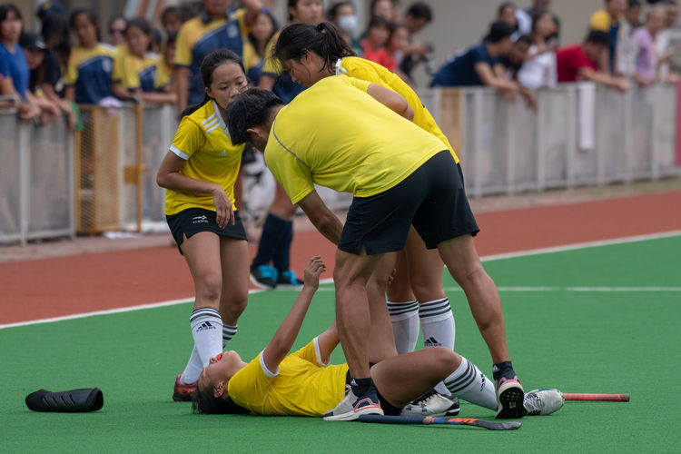 VJC suffered several instances of their players going down from cramps in the final minutes of the final game against EJC.