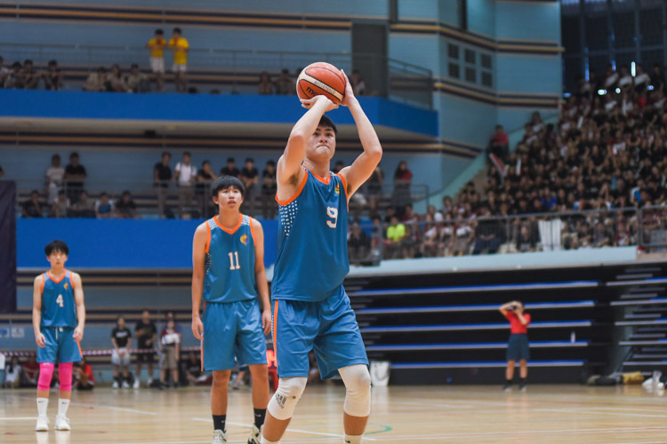 Tan Jing Jie (ASRJC #9) on the free throw. (Photo 1 © Iman Hashim/Red Sports)