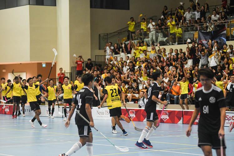 VJC celebrate scoring the first goal of the game via Mikail Sumono Ramli (#23). (Photo 1 © Iman Hashim/Red Sports)