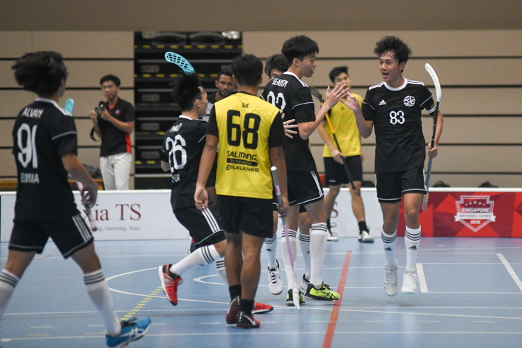 EJC captain Cheang Jia Qing (#83) equalises for his team at 1-1. (Photo 1 © Iman Hashim/Red Sports)