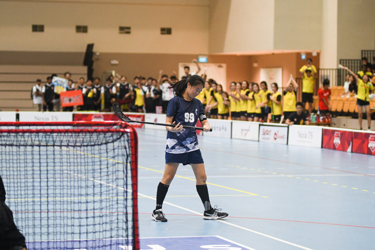 Joanne Tan (RVHS #99) reacts after missing her penalty. (Photo 1 © Iman Hashim/Red Sports)