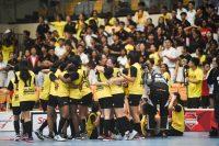 VJC celebrate their penalty shootout victory. (Photo 1 © Iman Hashim/Red Sports)