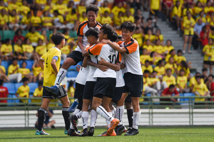 SAJC celebrate after their third goal is scored. (Photo 1 © Iman Hashim/Red Sports)