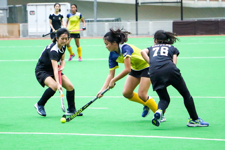 EJC blaze past RI in National Schools A Division Girls' Hockey semi-finals fixture. (Photo 7 © Clara Lau/REDintern)
